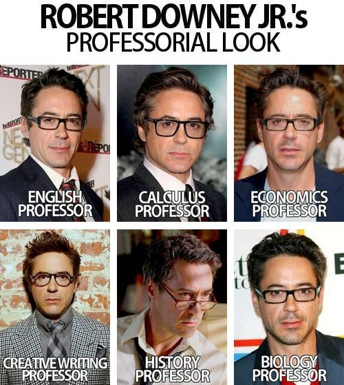 Robert downey jr..id take all these classes, nom nom nom: Professional Look, Robert Downey Jr, Robertdowneyjr, Rdj, Creative Writing, Professor Downey, Nu'Est Jr, Teacher, People