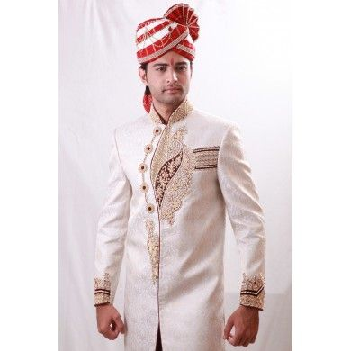 Truly extraordinary mandarin collar square cut #Sherwani from #bodyline. This mandarin collar, semi kedia styling, square cut #Sherwani is a must- have for you! It would not only add to your appeal but look out of ordinary at your occasion. Buy online at www.ethnickurtas.com
