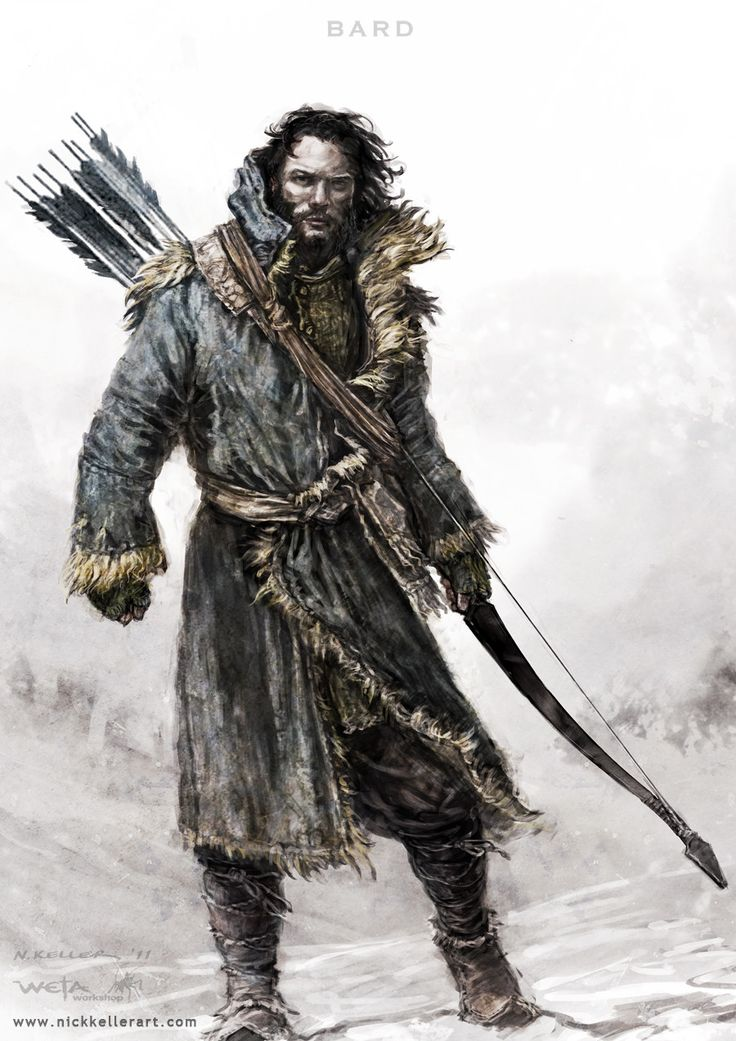 THE HOBBIT: Concept Art...bard <3