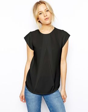 ASOS Top with Origami Pleat Detail