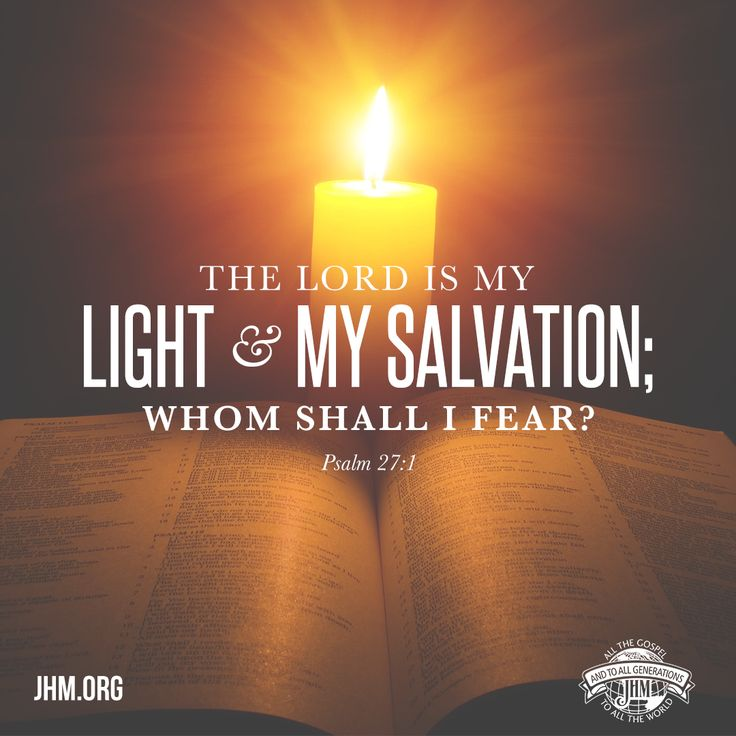 """""""The Lord is my light and my salvation; Whom shall I fear? The Lord is the strength of my life; Of whom shall I be afraid?"""" —Psalm 27:1"""