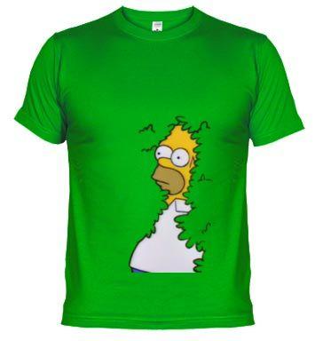 Camiseta Homer. Los simpson. Seto. Arbusto