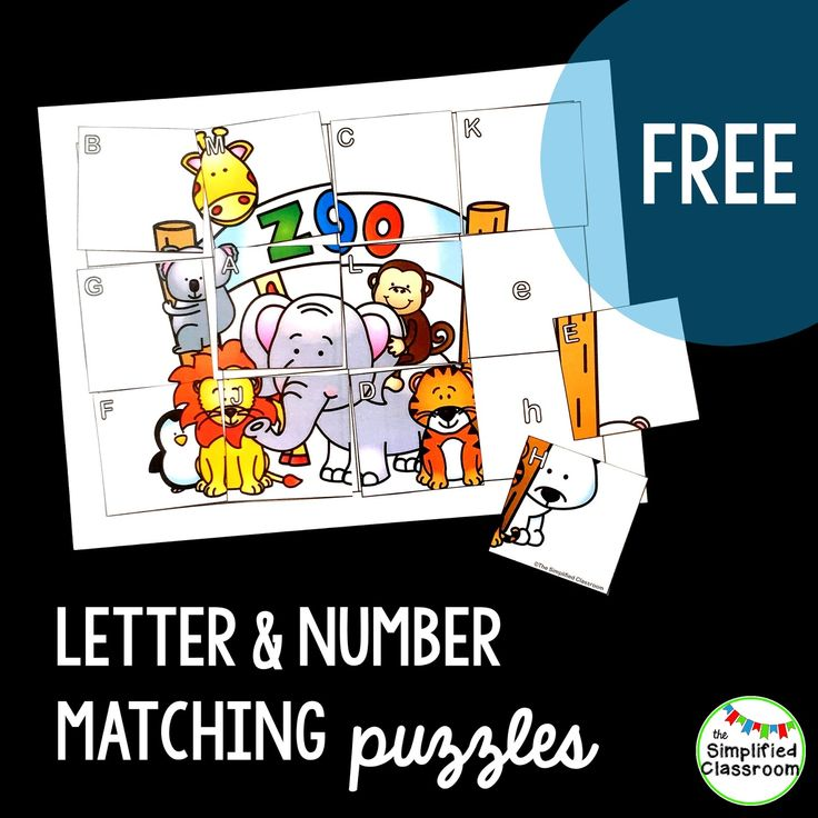 Three free puzzles to work on letters, numbers, and even a few sight words!