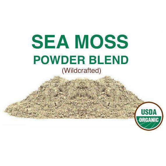 Sea Moss Powder Blend Organic Wildcrafted 16 Oz 450g Sea Moss Irish Moss Moss