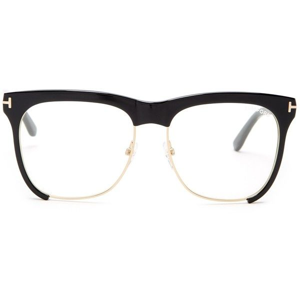 Tom Ford Women's Optical Readers (255 CAD) ❤ liked on Polyvore featuring accessories, eyewear, eyeglasses, sblk, clear glasses, tom ford glasses, clear plastic eye glasses, plastic lens glasses and tom ford eyeglasses