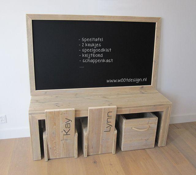 Kinderspeelhoek w00ty | Te koop by w00tdesign  steigerhout  Or maybe a nice DIY Project??