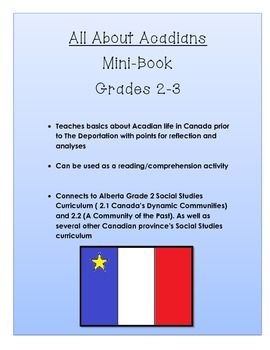 All About Acadians Alberta Social Studies Grade 2/3