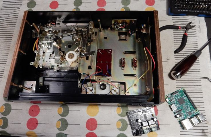 New build in progress, A Sony TC-121 turned into a streaming music player. Already sold . . .