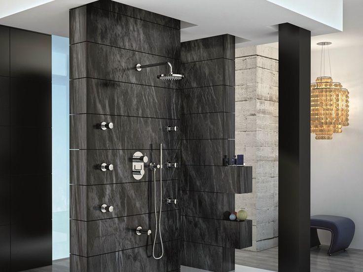 Gattoni Rubinetteria GBOX Scatola da incasso universale per miscelatore per doccia meccanico e miscelatore da incasso per doccia termostatico, con deviatore a 3 vie (uscite) e a 5 vie (uscite).