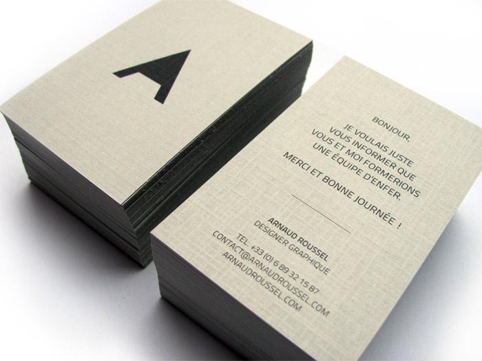 Arnaud Roussel Carte De Visite Carte De Visite Logo Avocat Et