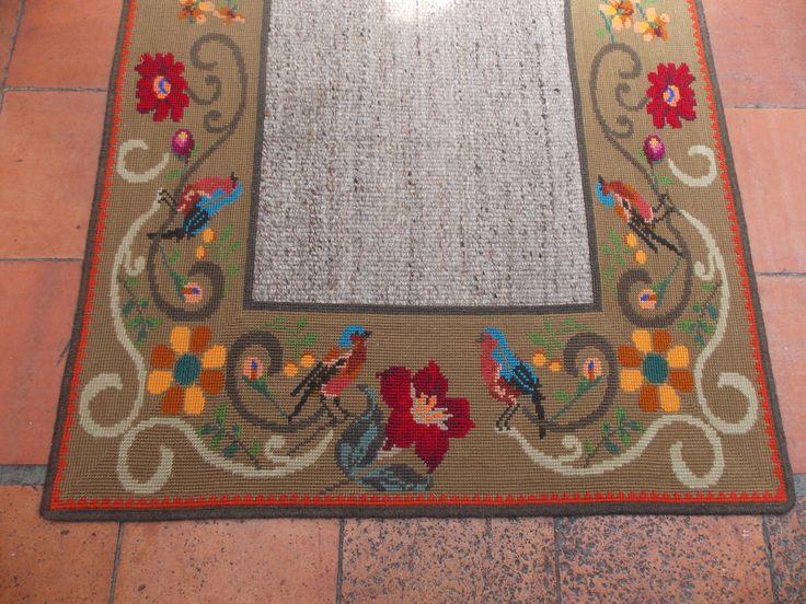 Alfombra punto de cruz / Cross Stitch Carpet