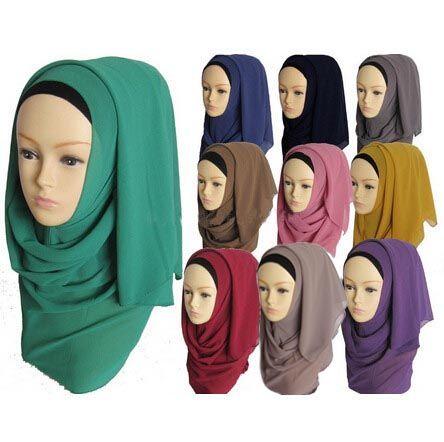 Muslim hijab islamic women hijab Muslim hijab jersey scarf hijabs chiffon shawls plain scarves WL2461