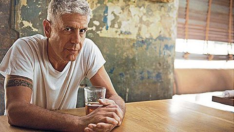 An outlier to the poisonously pretentious state of food in media, with talent and intellect to burn. A profile on @anthonybourdain.  http://www.panmagazine.com/articles/2016/3/4/32wmy31geguxum8rg24nft7mxw0caw  Photo credit: Men's Journal.  #panmagazine #magazine #essays #gastronomy #anthonybourdain #chef #writer #food