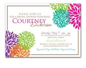 Bright, colorful, and perfect for a summer bridal shower.