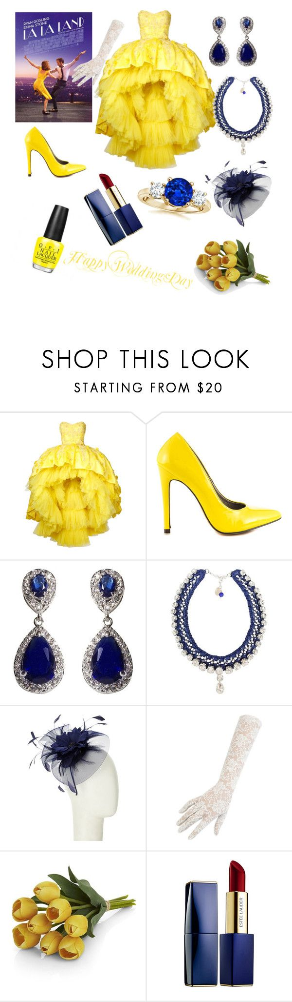 Wedding in La la land by feliciamia on Polyvore featuring Mikael D, Michael Antonio, Ricardo Rodriguez, NEXTE Jewelry, John Lewis, Black, Estée Lauder and Crate and Barrel