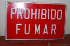 CHAPA METÁLICA - PROHIBIDO FUMAR