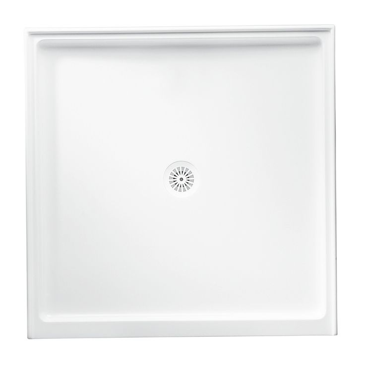 Marbletrend 900 x 900mm Cultured Shower Base Centre Outlet Bunings $150