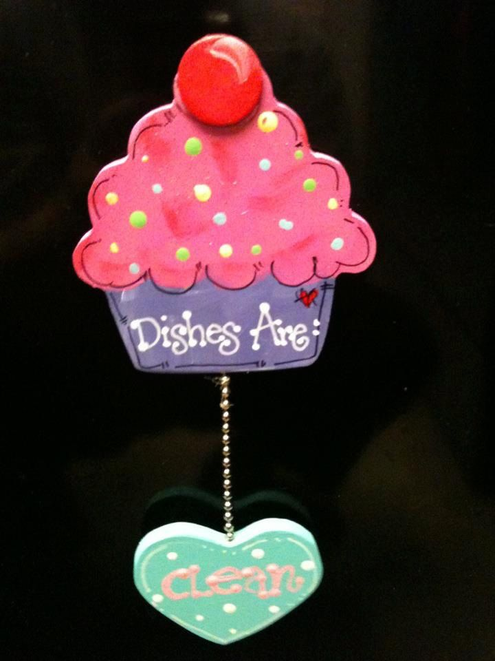 Cupcake Cup Cake Dishwasher Sign Magnet Or Suction Cup
