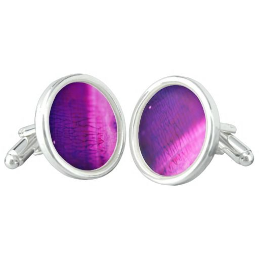Designers cufflinks : Galaxy purple edition