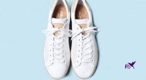 Witte Sneakers Van Leer - Canvas - Suede Schoonmaken