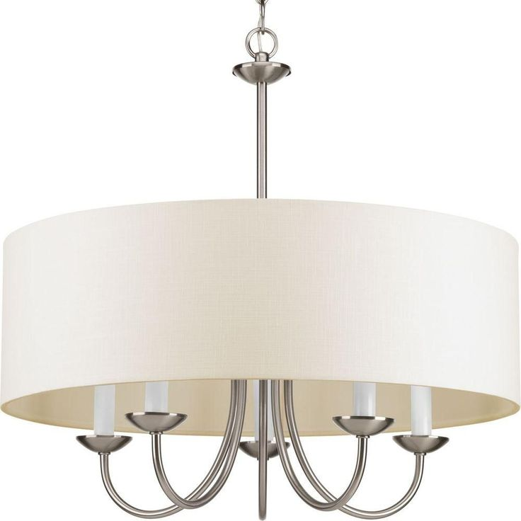 Progress Lighting 5-Light Brushed Nickel Chandelier-P4217-09 at The Home Depot