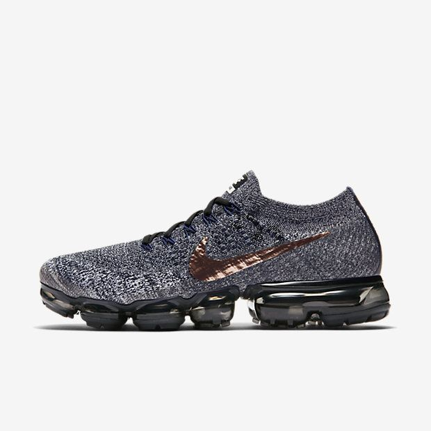 Nike Air VaporMax 2018 Flyknit Gray Gold Tick