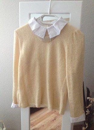 Kaufe meinen Artikel bei #Kleiderkreisel http://www.kleiderkreisel.de/damenmode/pullis-and-sweatshirts-langarmlig/143611195-flauschiger-pullover-inklusive-weisser-bluse
