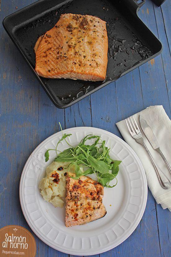Salmón al horno , El salmón al horno es una comida fácil, rápida y muy saludable. Aprende a hacer salmón al horno, una receta fácil y deliciosa paso a paso.