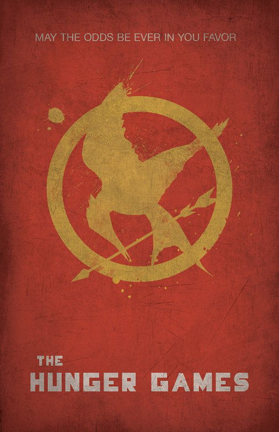 The Hunger Games Minimalist Poster by WestGraphics on Etsy