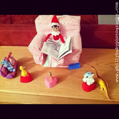 Creative Elf on the Shelf ideas:  Twas the night before Christmas...