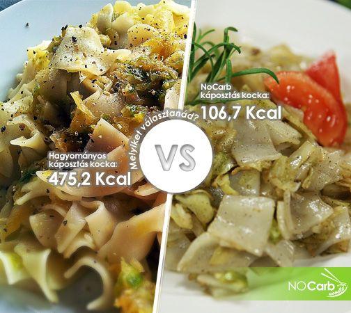 Hagyományos káposztás kocka VS NoCarb káposztás kocka! http://www.szenhidratmentesteszta.hu/tesztak.html