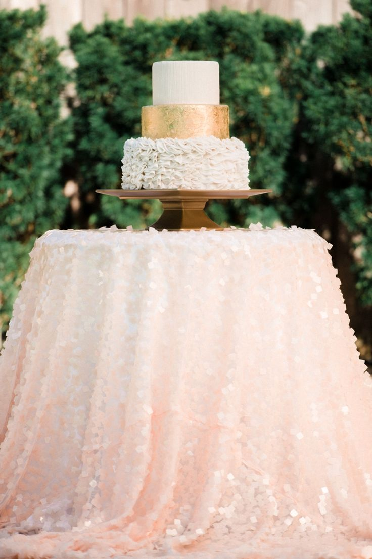 Rose gold wedding inspiration onewed rose gold ruffly wedding chair - Blush And Gold Wedding Inspiration