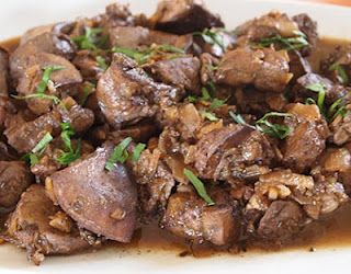 Pan fried Liver: Sykotakia Ladorigani