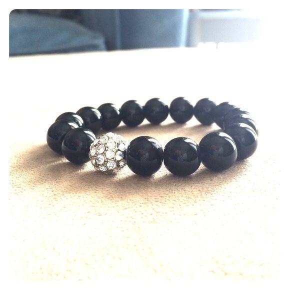 Stella and Dot bracelet Classic black bracelet from Stella and Dot Stella & Dot Jewelry Bracelets
