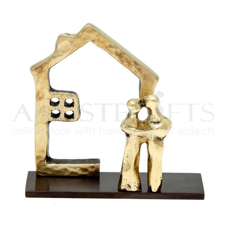 Καρτελοθήκη Σπίτι Με Παράθυρα και Ζευγάρι Χειροποίητη καρτελοθήκη υλοποιημένη από ορείχαλκο. Αποκτήστε την δική σας online http://www.artistegifts.com/kartelothiki-spiti-parathyra-zevgari.html