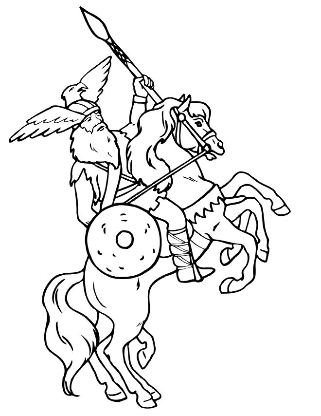 72 best coloriage viking images on pinterest crayon art for Norse mythology coloring pages
