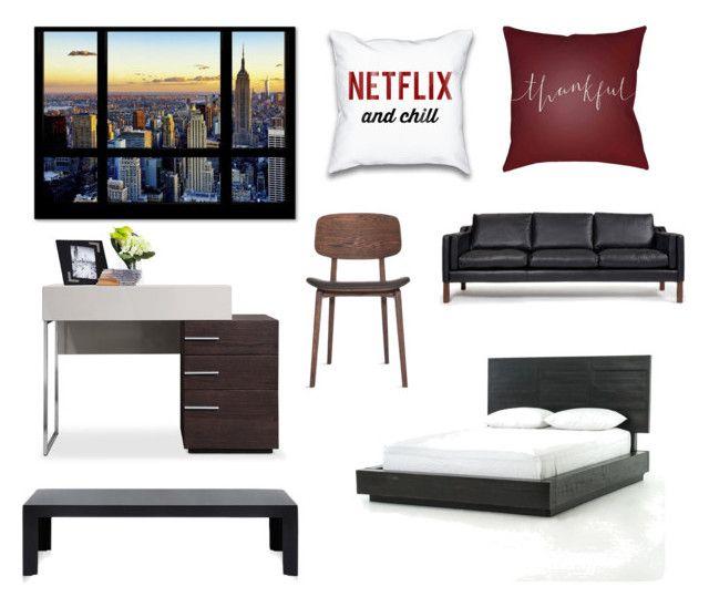 """Room"" by ricardo-rodriguez-hernandez on Polyvore featuring interior, interiors, interior design, hogar, home decor, interior decorating, Décor 140, Rove Concepts y Kartell"