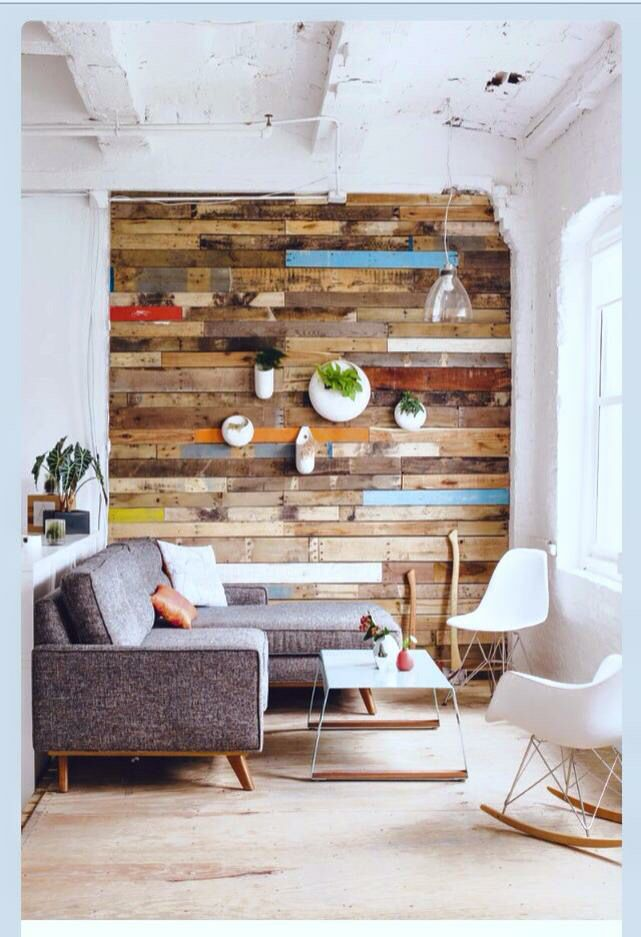 nice reclaimed wood feature wall ideas