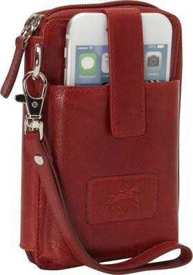 Mancini Leather Goods Cell Phone RFID Wallet Red - via eBags.com!