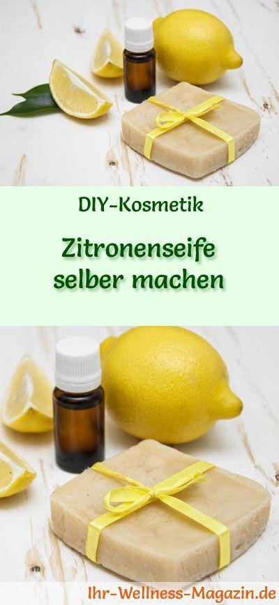 Zitronenseife selber machen – Seifen-Rezept & Anleitung