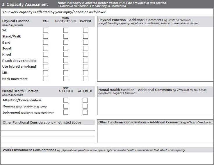 Mental Capacity Assessment Form Example  Google Search  Projects