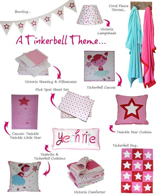 So many cute-as accessories to add some theme & colour to your girls bedroom. #patersonrose #kidsbedding #girlsbedlinen #girlsbedroomdecor #kidsinteriors #childrensrooms #fairies #kidsaccessories