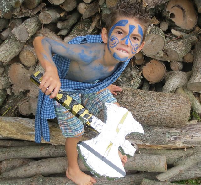 Blue Paint Used To By Cletic Warriors