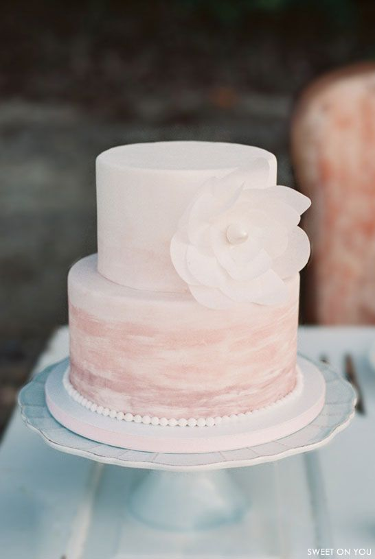 Pink Watercolor Wedding Cake | by Sweet On You