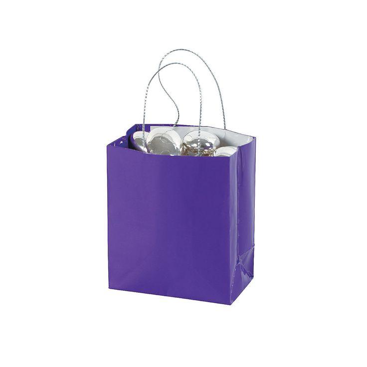Mini Purple Gift Bags - OrientalTrading.com