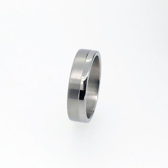 Modern Palladium Wedding Band Wide Ring Matte Gold Ring Etsy Mens Wedding Rings Platinum Mens Wedding Rings Mens Wedding Rings Gold