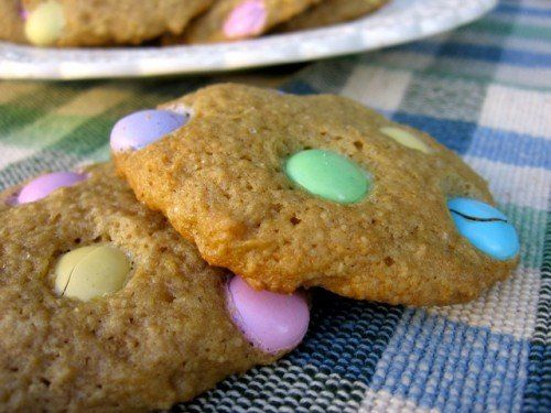 Soft & Chewy Low Fat M&M Cookies