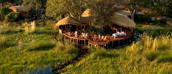 Sanctuary Baines' Camp offers both mokoro safaris & game drives in Botswana's Okavango Delta