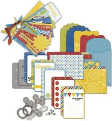 Little Yellow Bicycle - Sweet Summertime Collection - Envelope Album Ki