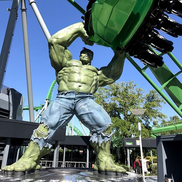 What A Ride Incredible Hulk Coaster In Universal S Islands Of Adventure At Universal Orlando Hulk Rollercoaster Gogreen Islandsofadventure Universalor